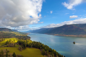 Columbia River Gorge by Cape Horn in Washington State USA