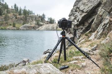 En tournage dans la montagne