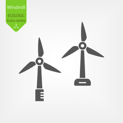 Windmill Line Vector Icons