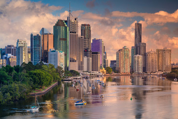 Brisbane. Cityscape image of Brisbane skyline, Australia during sunrise.