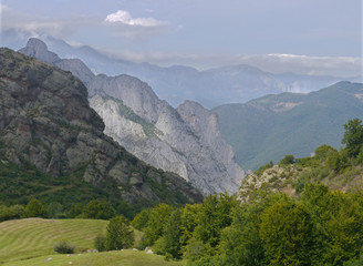 Light and shade in the Picos de Europa mountains