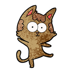 happy cartoon cat dancing