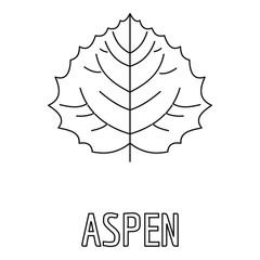 Aspen leaf icon. Outline illustration of aspen leaf vector icon for web