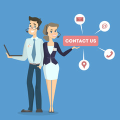 Contact us illustration.