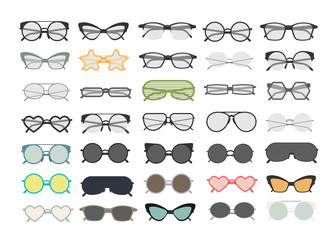 Eye glasses set.