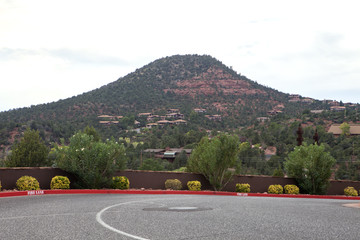 The residential houses on the mountain in Sedona