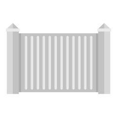 Steel fence icon. Flat illustration of steel fence vector icon for web.