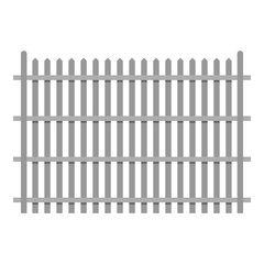 Country fence icon. Flat illustration of country fence vector icon for web.