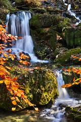 Wasserfall in der Nähe der Bärenschützklamm