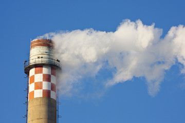 Smoke Stack With Blue Sky
