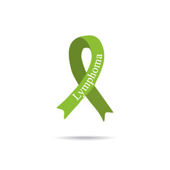 Cancer Ribbon. Lymphoma. International Day of cancer. World Cancer Day. Vector illustration on isolated background