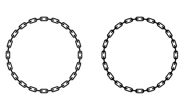 chain link circular border