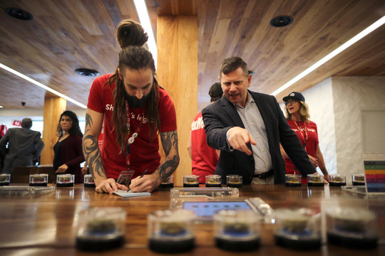 Eron Silverstein, 51, shops for marijuana at the MedMen store in West Hollywood