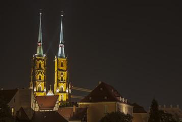 Wroclaw by night, Poland
