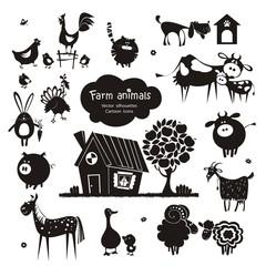 Farm animal icons.