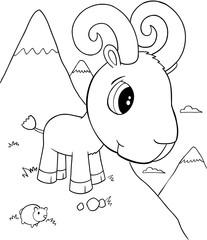 Cute Ram Vector Illustration Art