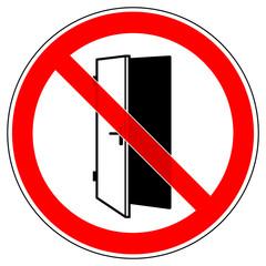 srr314 SignRoundRed - german - Verbotszeichen: Bitte Türe schließen / Türen geschlossen halten - english - prohibition sign - keep door closed - please close the doors - xxl g5778