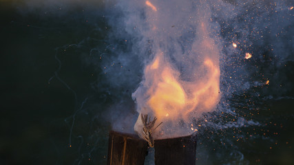 Böller explodiert