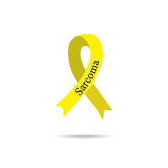 Cancer Ribbon. Sarcoma. International Day of cancer. World Cancer Day. Vector illustration on isolated background