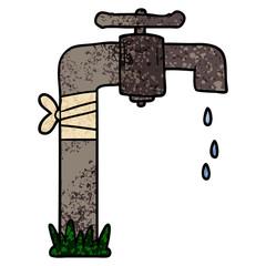 cartoon old water tap