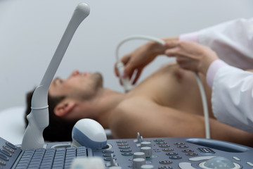 ultrasound examination in medical office