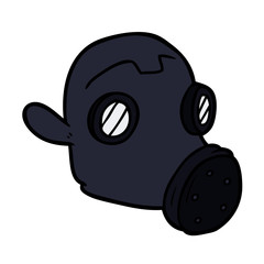 cartoon gas mask