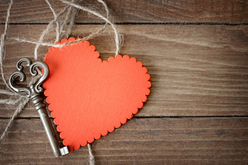 Valentines Day heart and key