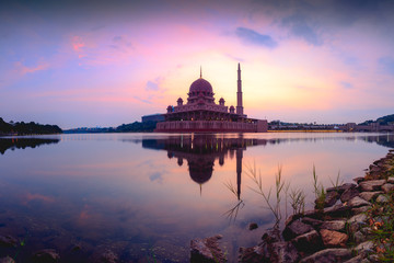 Putra mosque during sunrise, Malaysia