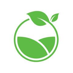 Green farm logo vector design
