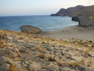 La playa de Mónsul y los Genoveses en Cabo de Gata (Almeria, Andalucia, España) se encuentra en el municipio de Níjar en la localidad de San José.