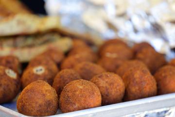 Fried Hispanic Latin Croquette balls