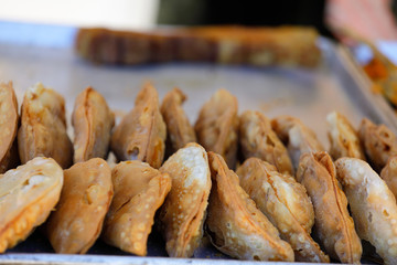 Sweet hispanic desert or meat pastries