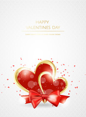 Valentines day sale background with heart. Vector illustration. Wallpaper, flyers, invitation, posters, banners.