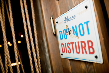 "Nameplate ""Please, DO NOT DISTURB"""