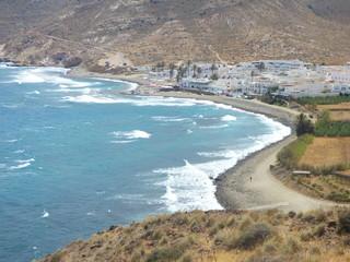 Las Negras en Cabo de Gata, localidad española de la provincia de Almería y la comunidad autónoma de Andalucía (España) perteneciente al municipio de Níjar