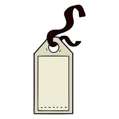 cartoon luggage tag