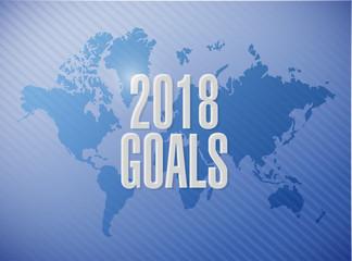 goals 2018 world map sign illustration design