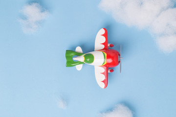 Airplane models Flying in the sky with clouds