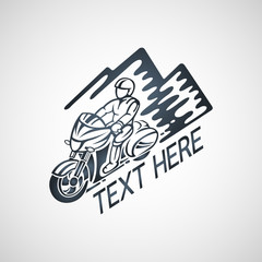 touring motorcycle club vector logo illustration