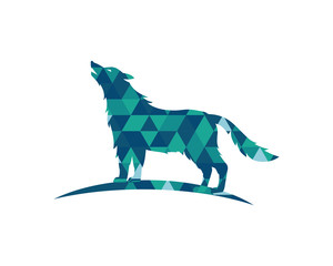 Wolf polygon vector illustration