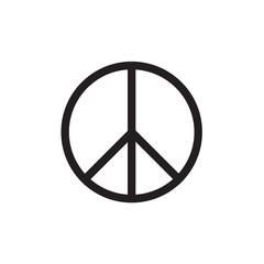 Peace Symbol Vector Icon EPS10 .