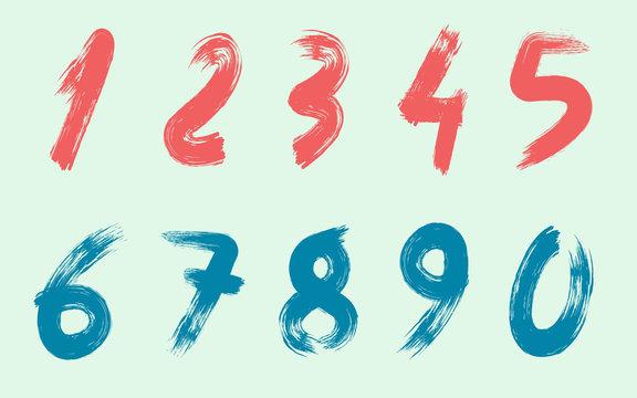 Handwritten Paint Brush Numbers