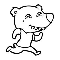 cartoon bear running