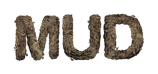 Mud Text Isolated Fototapete