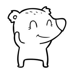 smiling polar bear cartoon