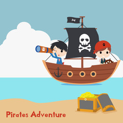kids pirate illustration