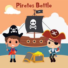 kids pirate illustration