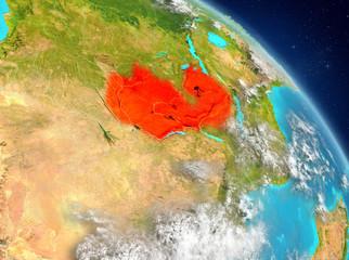 Zambia from orbit