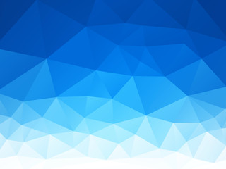vector abstract blue white triangles background