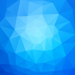 vector abstract blue mosaic triangles background